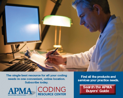 APMA Coding Resource Center and APMA Buyers' Guide