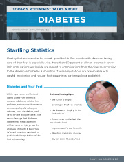Today's Podiatrist Talks About Diabetes