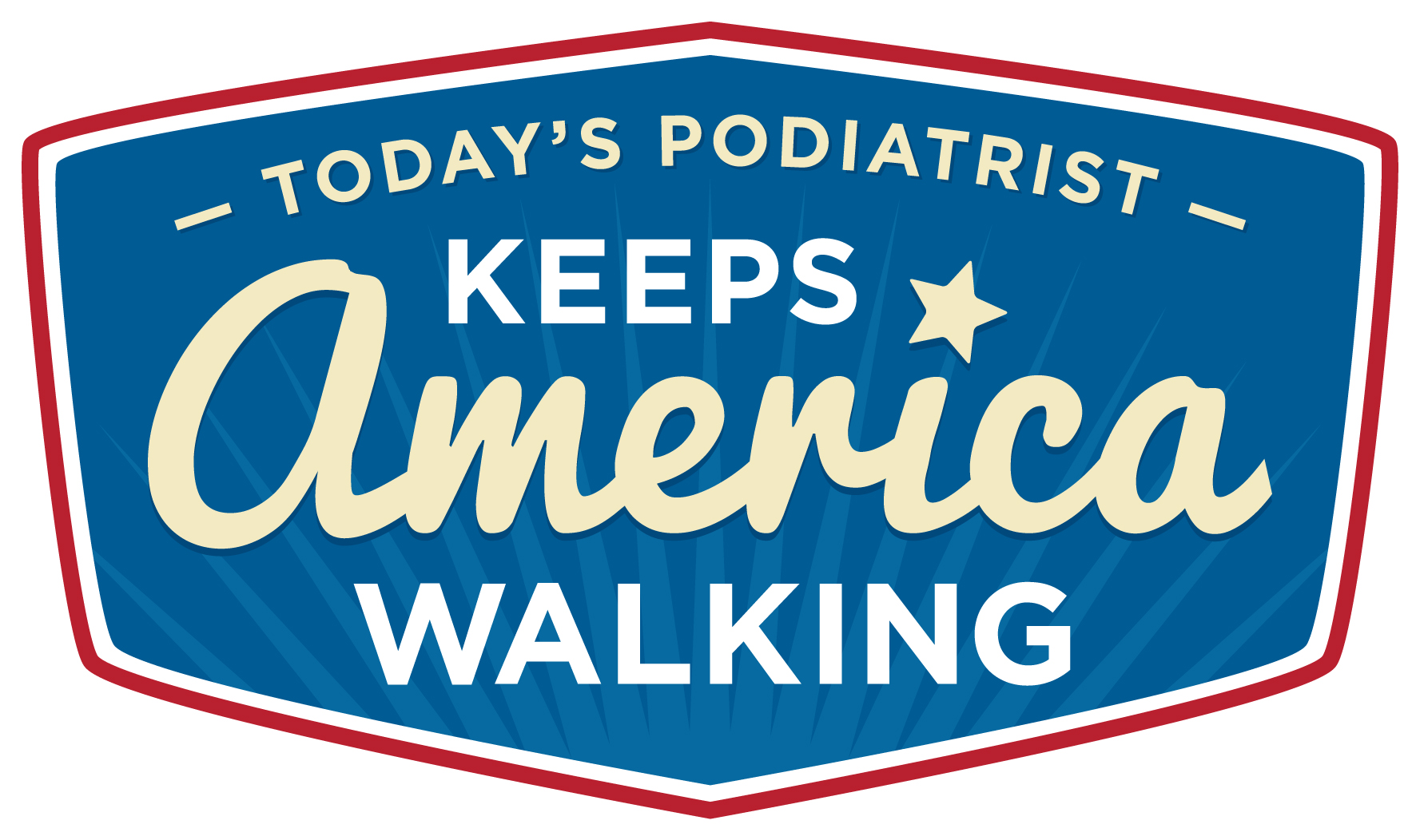 Today's Podiatrist Keeps America Walking Logo