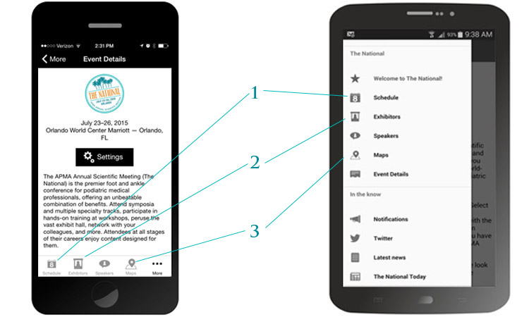 APMA Meetings app
